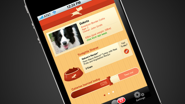 Mobile application design for a personal project, aimed at helping pet parents keep their dogs healthy